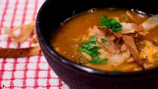 Chicken Tortilla Soup Recipe | Fall Foods | Rookie With A Cookie