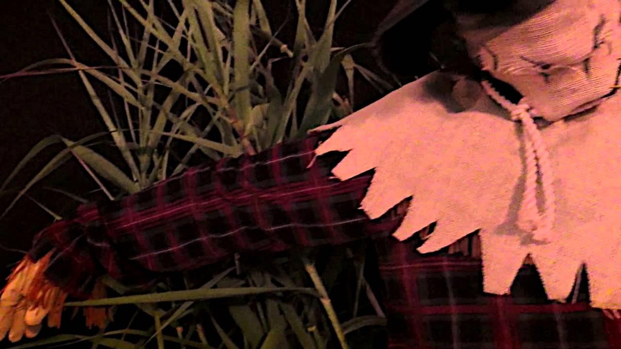 scarecrow animotion mask - spirit halloween - youtube