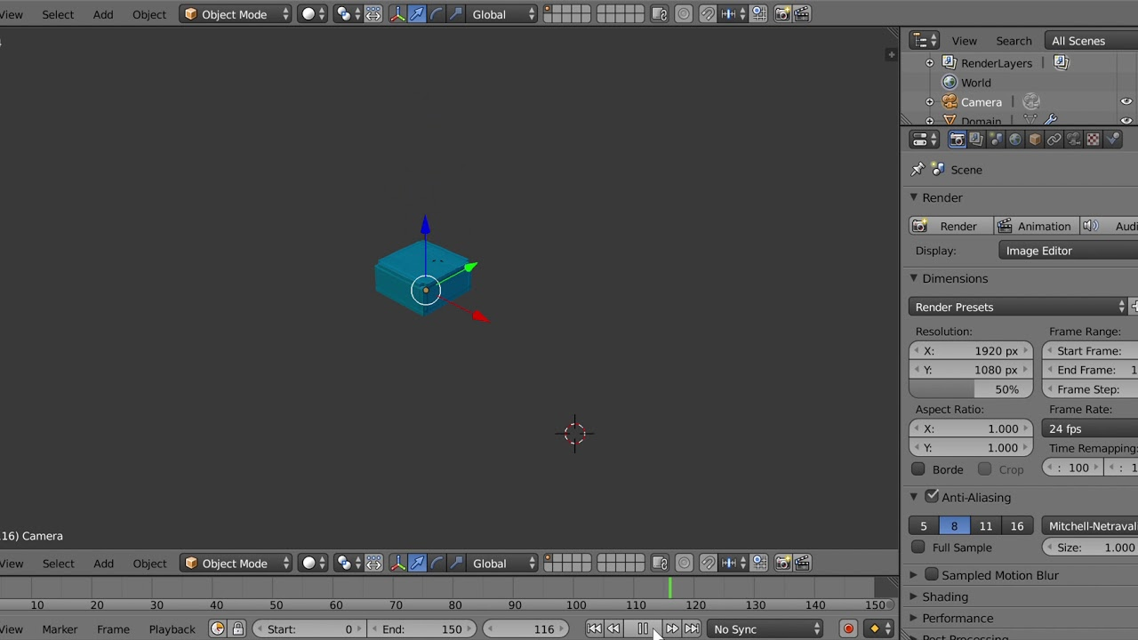 Blender fluid simulation -python script-