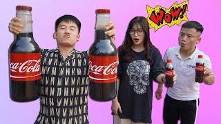 Hưng Troll | Bị Trẻ Trâu Khinh Thường Thách Thức Làm Chai Coca Cola Khổng Lồ Và Cái Kết