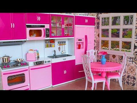 НОВАЯ КУХНЯ для Барби. Комната своими руками. Обзор и распаковка кухни