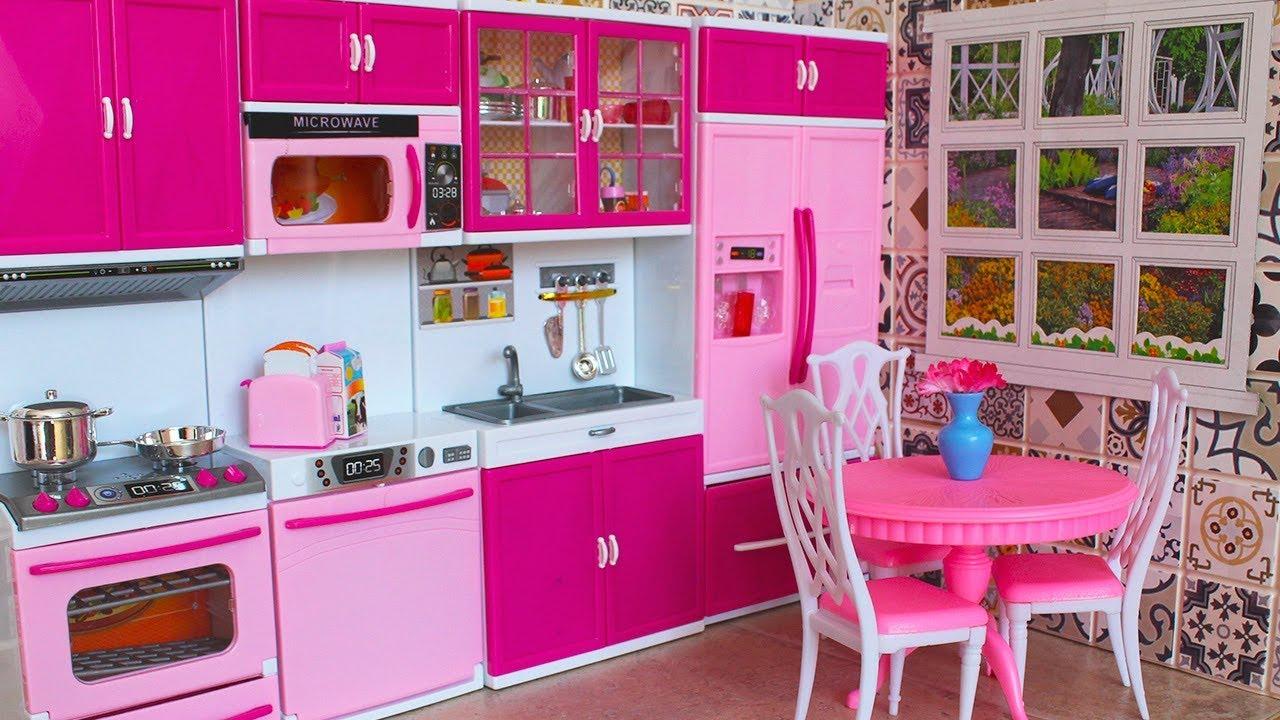 новая кухня для барби комната своими руками обзор и распаковка