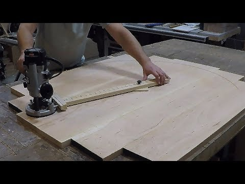 How to make a circle cutting jig fully adjustable quick and simple - Woodworking DIY