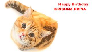 KrishnaPriya   Cats Gatos - Happy Birthday