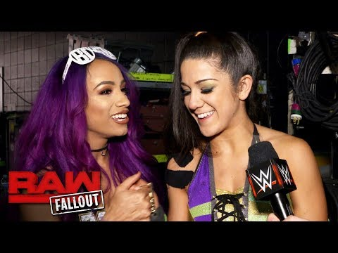 Sasha Banks congratulates Bayley on joining Team Raw: Raw Fallout, Nov. 13, 2017