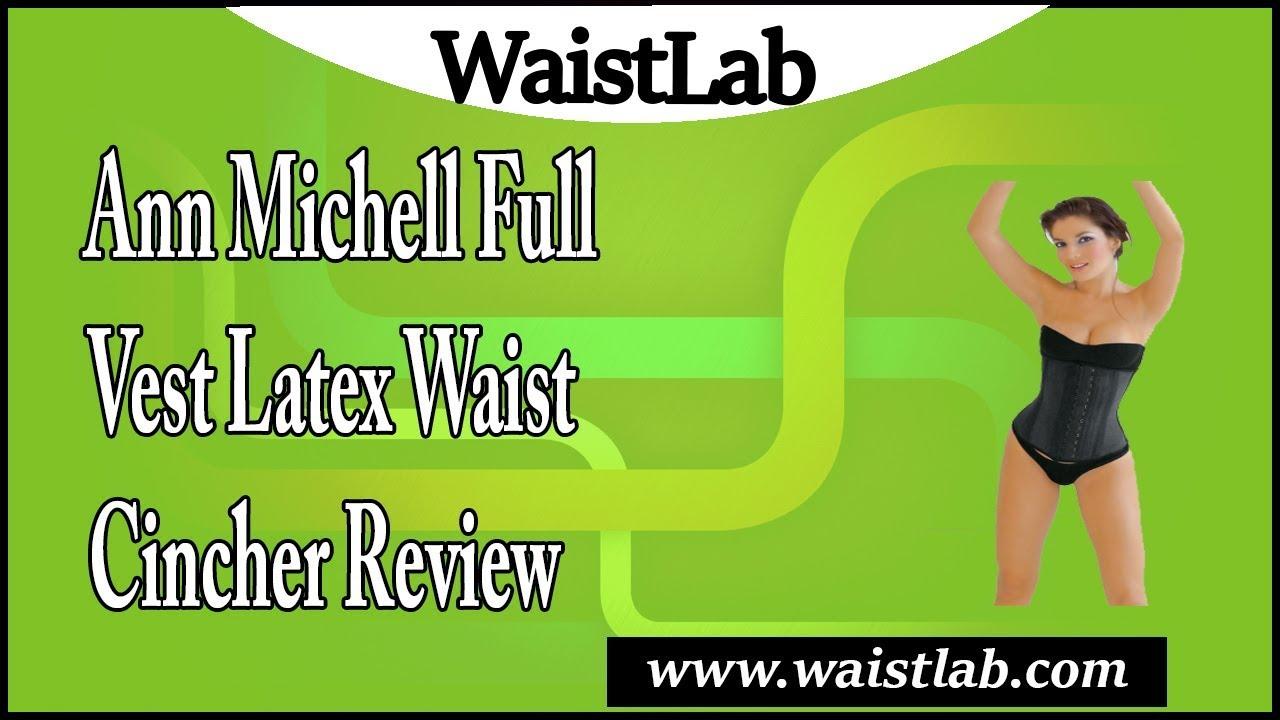 fba344ed86 Ann Michell Full Vest Latex Waist Cincher Review - YouTube