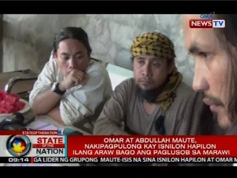 Omar at Abdullah Maute, nakipagpulong kay Isnilon Hapilon ilang araw bago ang paglusob sa Marawi