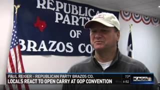 Locals react to open carry at GOP convention
