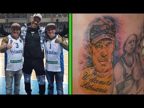 Lithuania Fans Are Putting LaVar Ball's Face on Their Bodies Permanently, on PURPOSE!