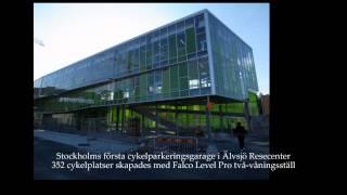 Falco Street Furniture -En presentation av parkmöbler och cykelparkering i två våningar