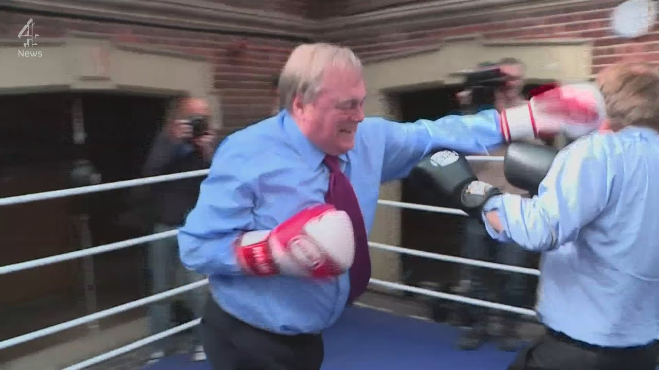 john prescott boxing with michael crick on the election