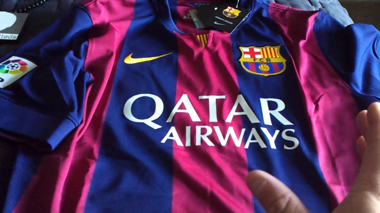hot sales 58c85 7f247 FC Barcelona Nike Authentic Jersey and Jacket