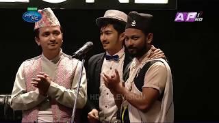 Pawan giri singing Saili Khani khola in nepal idol seasson 2