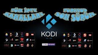 Kodi tv Tüm iptv kanalları Turkvod Ekim 2019 Turkvod son sürüm nasıl kurulur