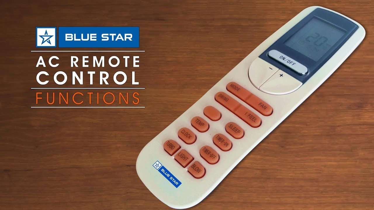Blue Star AC Remote Control Functions (Hindi)