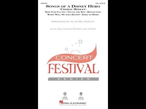 Songs Of A Disney Hero (SSA) - Arranged By Alan Billingsley