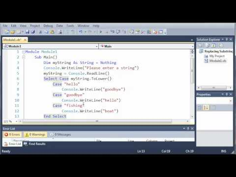 Visual Basic Tutorial - 25 - Select Case Else
