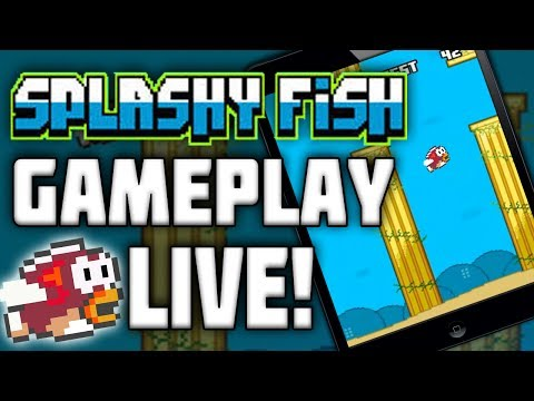 Flappy Bird Lives On In SPLASHY FISH!! A Wannabe/Replica Of Flappy Bird! (Live Gameplay)
