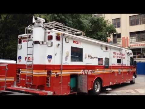 FDNY MOBILE COMMAND CENTER AT FDNY FIRE SAFETY DAY IN THE METROTECH COMMONS CENTER IN BROOKLYN, NYC.