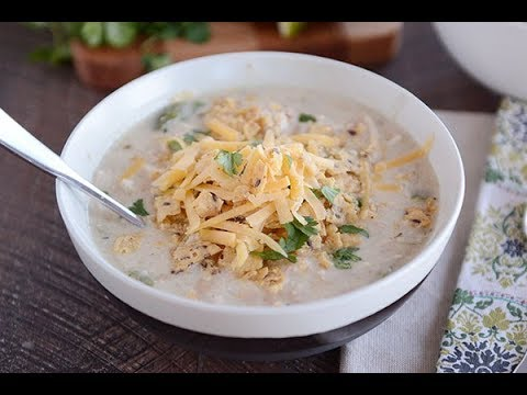 Amazing Creamy White Chicken Chili {Stovetop or Slow Cooker!}