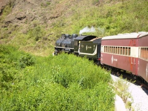 Travelling by steam on the mountains of Minas Gerais