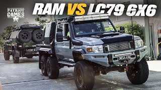 RAM 2500 vs 6x6 LC79 Landcruiser - The ULTIMATE Tug of War • Patriot Games Season 2
