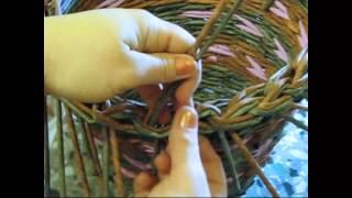 Как завершить плетение корзины.  Часть 5. 2.