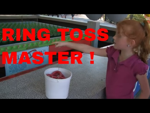 7 Year Old Girl Wins Ring Toss Like A Ring Boss