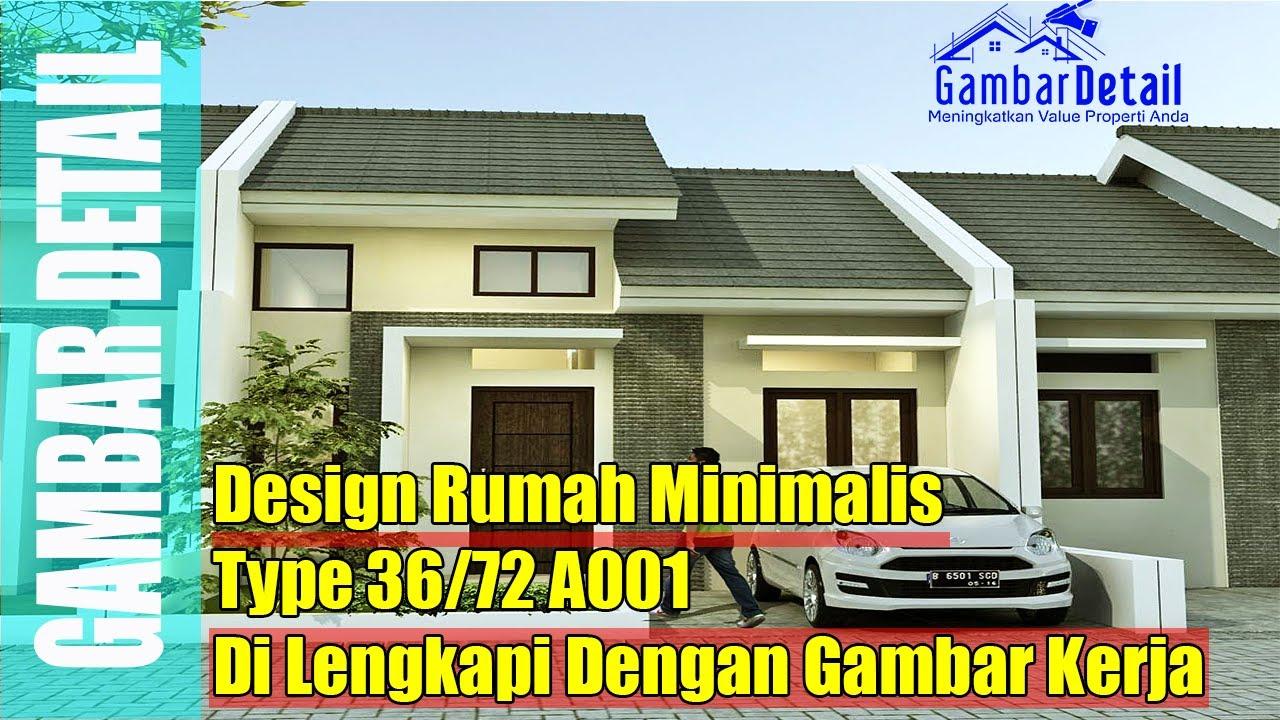 Desain Rumah Minimalis Type 36 72 A001 YouTube