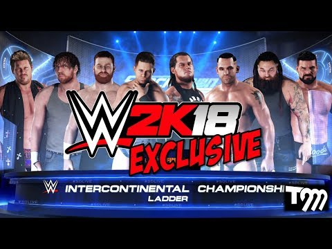 WWE 2K18 EXCLUSIVE - 8 Man Ladder Intercontinental Championship Match