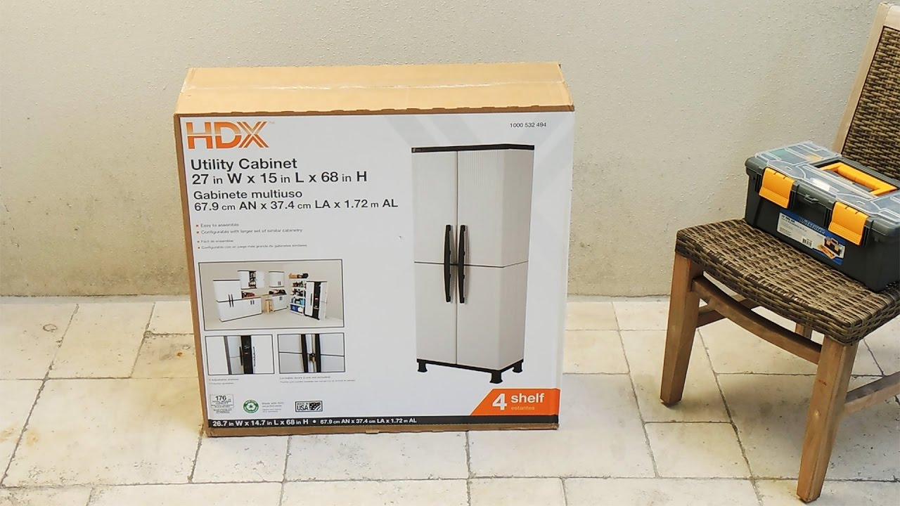 How to assemble a storage cabinet from Home Depot - YouTube
