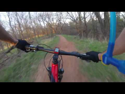 Bluff Creek MTB trails Oklahoma City, OK first ride with the chest mount