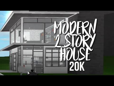 $20 000 Modern House Build Roblox Bloxburg Houses 2 20k Modern 2 Story House Speedbuild Welcome To Bloxburg Youtube