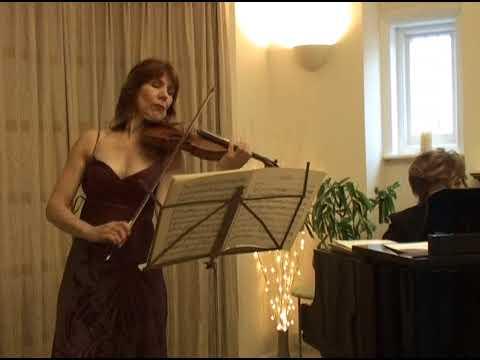 Elisabeth Perry And Melita Kolin Performing Bach, Beethoven And Brahms Sonatas.