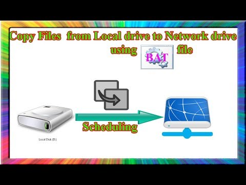how to copy files from local drive to network drive using batch file in  windows 7