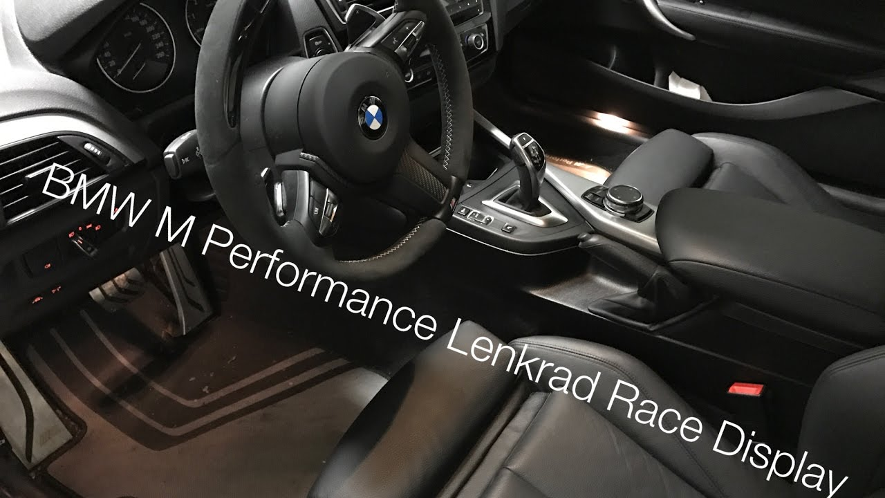 bmw m performance lenkrad mit race display youtube. Black Bedroom Furniture Sets. Home Design Ideas