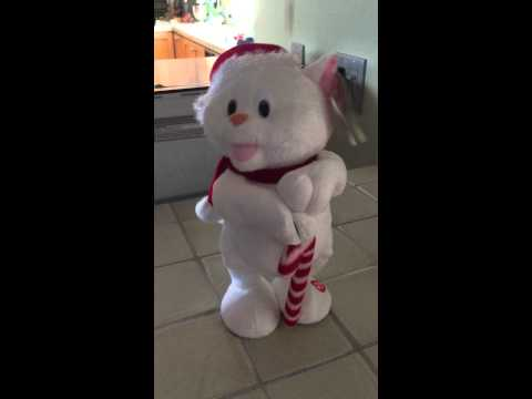 Can't touch this dancing Christmas cat. Meow.