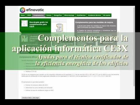 Complementos para CE3X