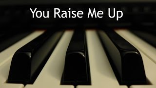 You Raise Me Up - piano instrumental cover with lyrics