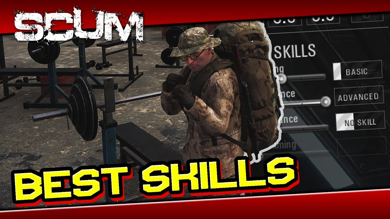 SCUM - Best Skills and Attributes Guide [ Tips and Tricks ]