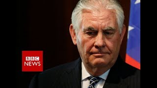 Trump sacks Rex Tillerson as secretary of state - BBC News