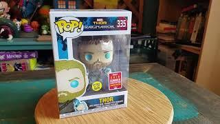 Pop! SDCC 2018 Odin Force Thor Ragnarok GITD Marvel Funko Vinyl Figure Review