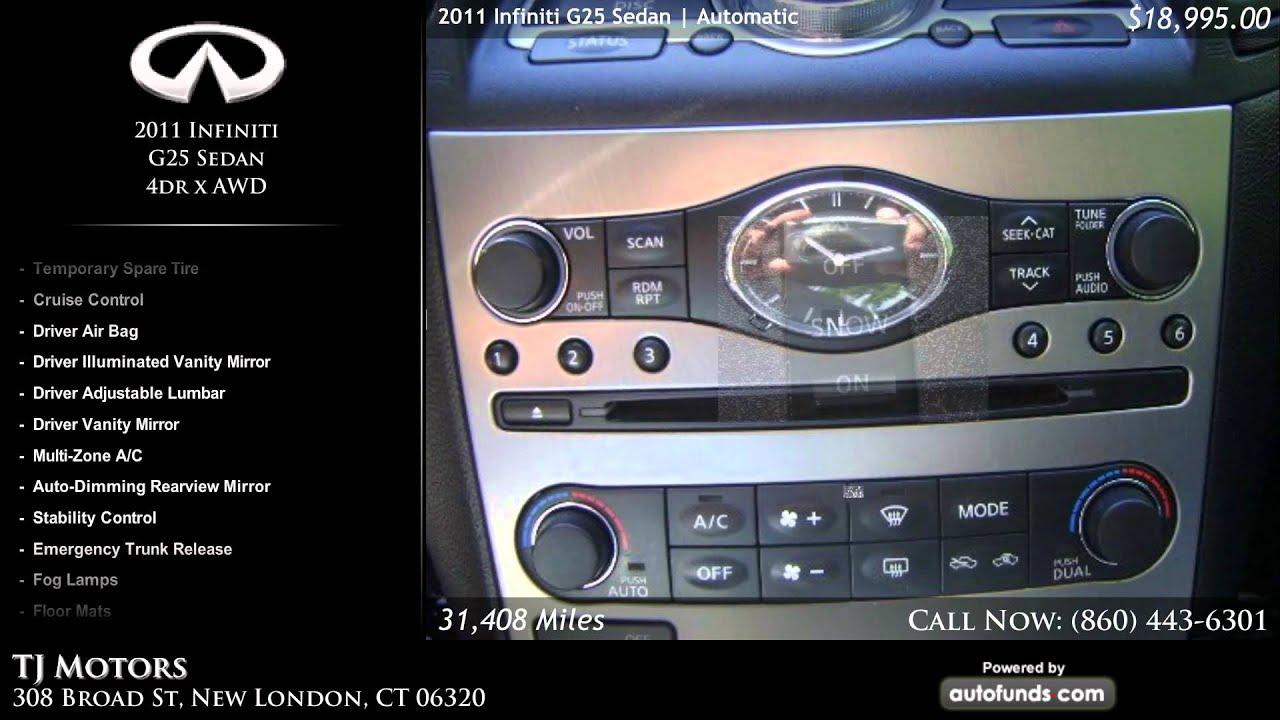 Used 2011 infiniti g25 sedan tj motors new london ct for Tj motors new london ct