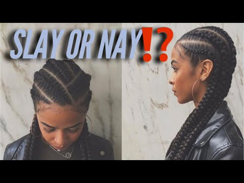 Slay Or Nay |Simple Feed In Braids