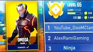 "SECRET ""OMEGA MASK"" UNLOCKED! WORLD'S FIRST LEVEL 100 Season 4 GRIND! Fortnite Battle Royale Live"