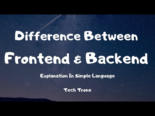 Diffrence Between Frontend & Backend - Explanation in Simple Language - Also in Hindi 🤪