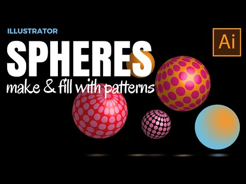 Make Gorgeous 3D Patterned Spheres in Adobe Illustrator - add shine and gloss to them too