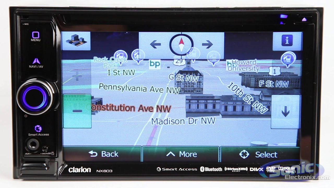 maxresdefault clarion nx603 double din reciever youtube clarion nx603 wiring diagram at crackthecode.co