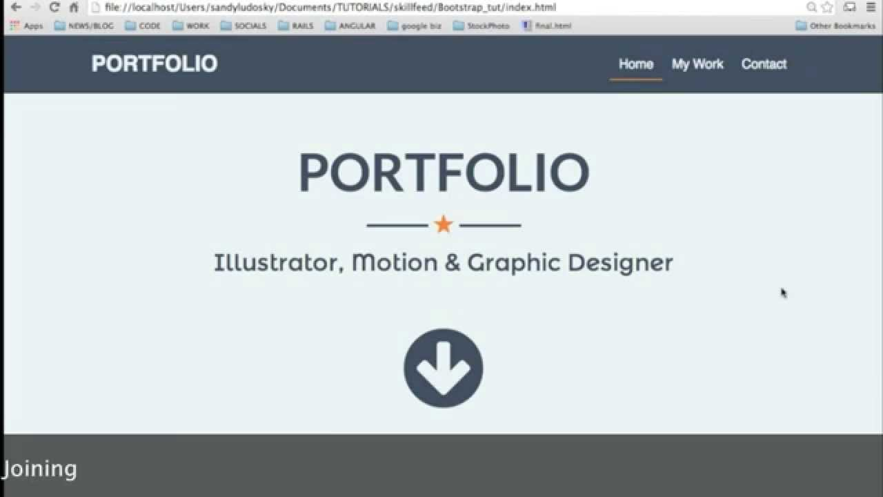 CREATE A Portfolio With Bootstrap HTML CSS