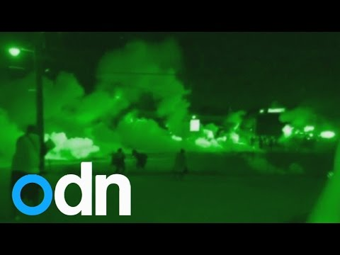 Ferguson riots: Police fire tear gas and rubber bullets at protesters